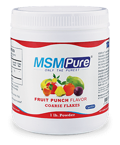 MSMPure Fruit Punch flavor Coarse MSM Flakes