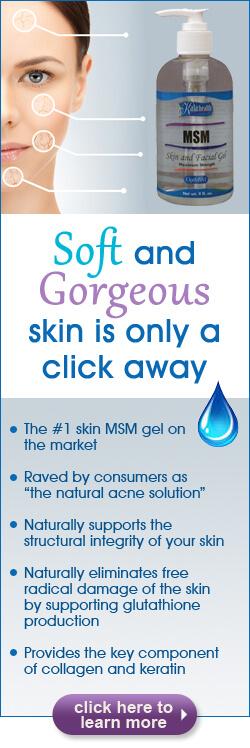 Benefits of using MSM Skin & Facial Gel