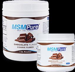 Chocolate Flavored MSM Coarse Powder Flakes