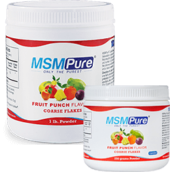 Fruit Punch Flavored MSM Coarse Powder Flakes