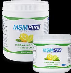Lemon Lime Flavored MSM Coarse Powder Flakes