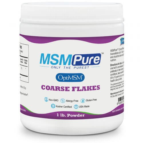 MSMPure MSM powder coarse flakes 1lb 693554300100